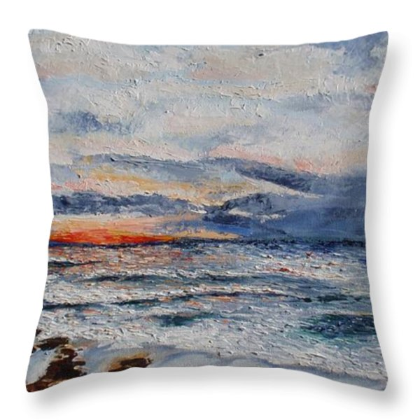 Glorious Sunset  Throw Pillow by Tatjana Popovska