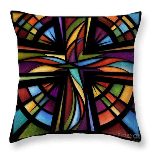Glory To God Throw Pillow by Shevon Johnson