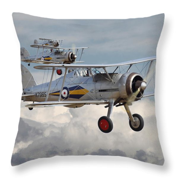 Gloster Gladiator Throw Pillow by Pat Speirs