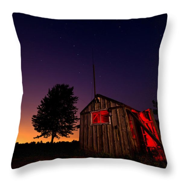 Glowing Shed Throw Pillow by Cale Best