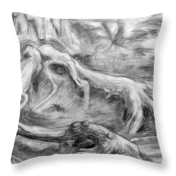 Gnarled Throw Pillow by Adam Long