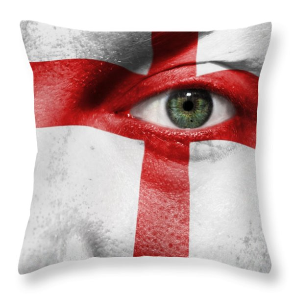 Go England Throw Pillow by Semmick Photo