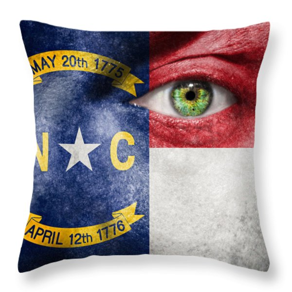 Go North Carolina Throw Pillow by Semmick Photo