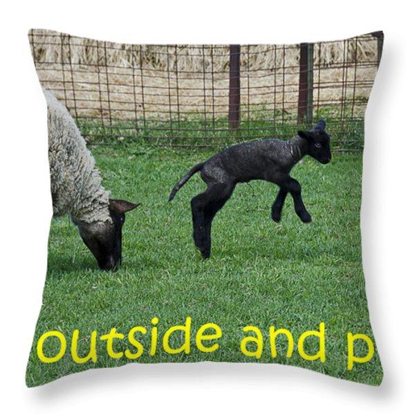 Go Outside And Play Throw Pillow by LeeAnn McLaneGoetz McLaneGoetzStudioLLCcom
