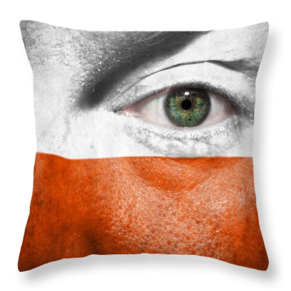 Go Poland Throw Pillow by Semmick Photo