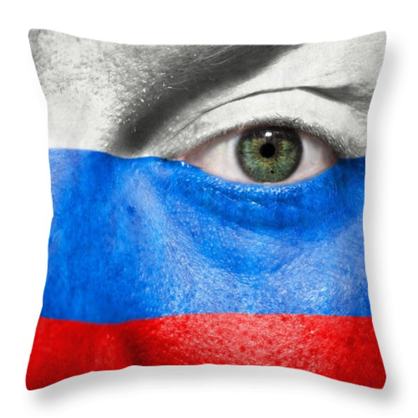 Go Russia Throw Pillow by Semmick Photo