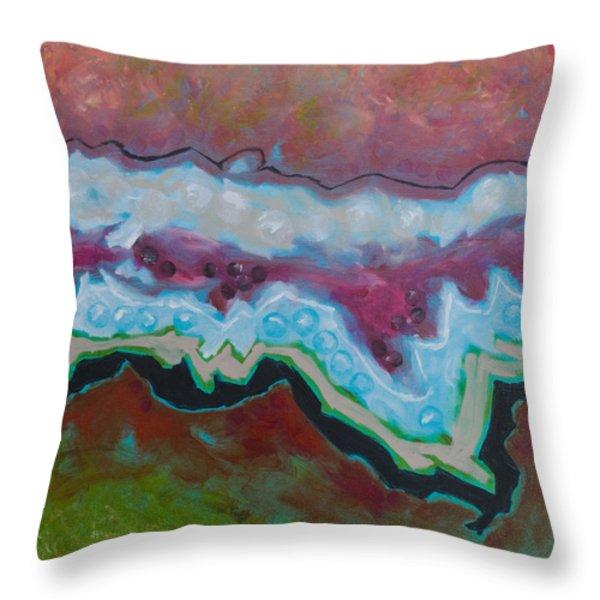 Go With The Flow 2 Throw Pillow by Linda Krukar