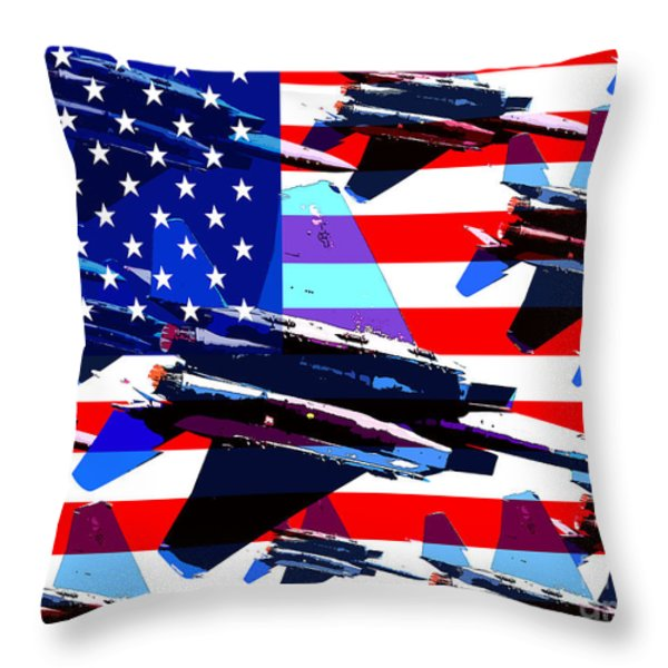 God Bless America Land Of The Free Throw Pillow by Wingsdomain Art and Photography