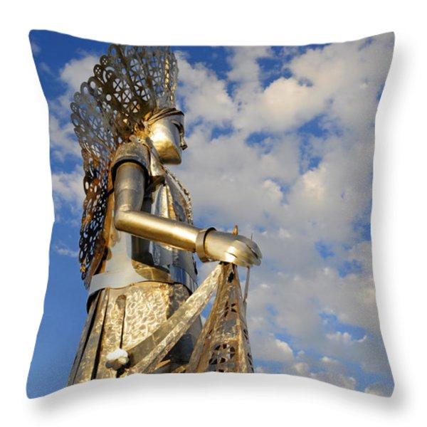 Goddess Isthmus Throw Pillow by Skip Hunt