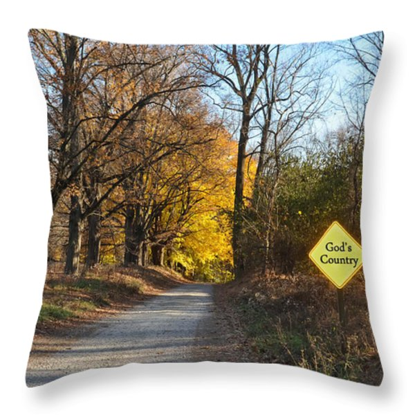 Gods Country Throw Pillow by Bill Cannon