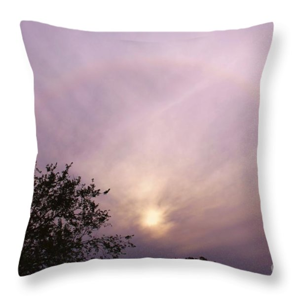 God's Masterpiece Throw Pillow by Carolyn Wright