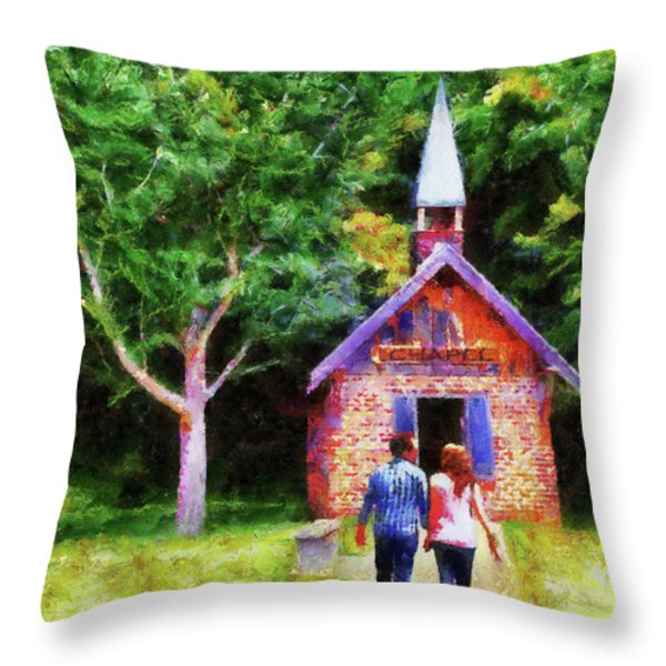 Going To The Chapel Throw Pillow by Jai Johnson