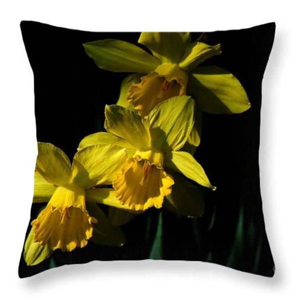 Golden Bells Throw Pillow by Lois Bryan