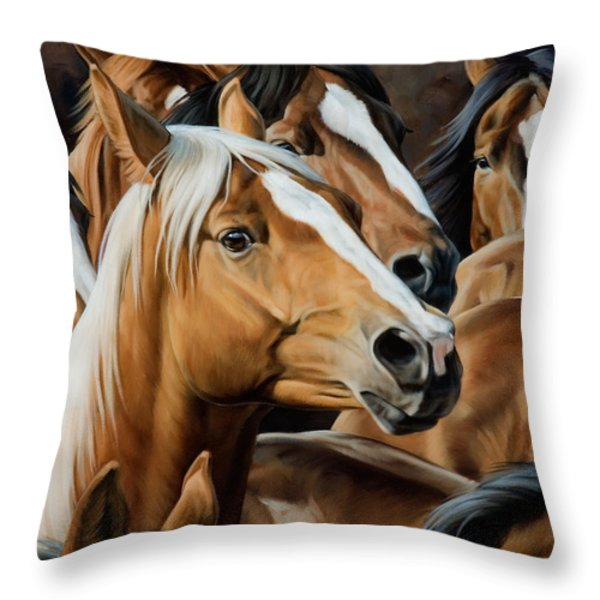 Golden Child Throw Pillow by JQ Licensing