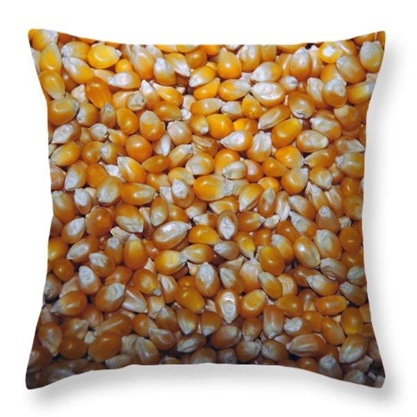 Golden Corn Throw Pillow by LeeAnn McLaneGoetz McLaneGoetzStudioLLCcom