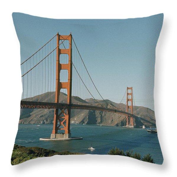 Golden Gate Bridge As Seen Throw Pillow by J. Baylor Roberts