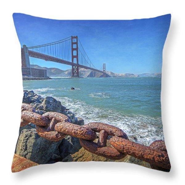 Golden Gate Bridge Throw Pillow by Everet Regal