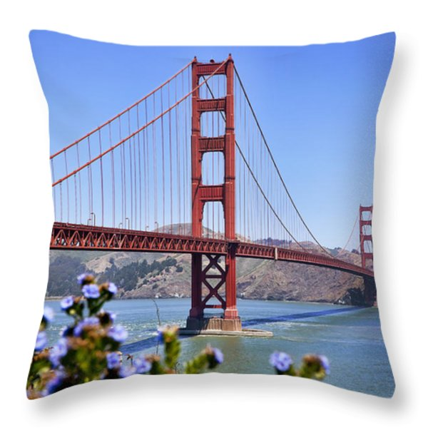 Golden Gate Throw Pillow by Kelley King