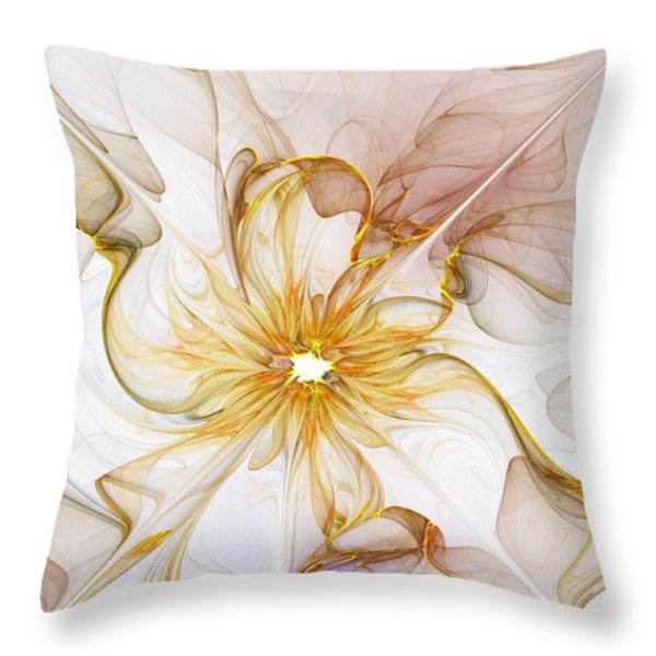 Golden Glow Throw Pillow by Amanda Moore