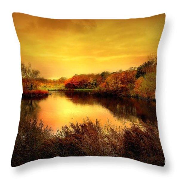 Golden Pond Throw Pillow by Photodream Art