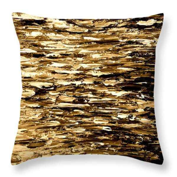 Golden Reflections Throw Pillow by Kume Bryant