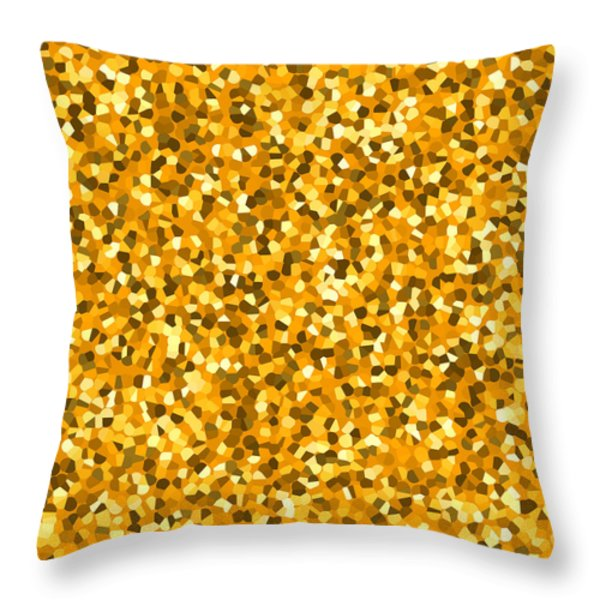 Golden Sprinkle Throw Pillow by Sumit Mehndiratta
