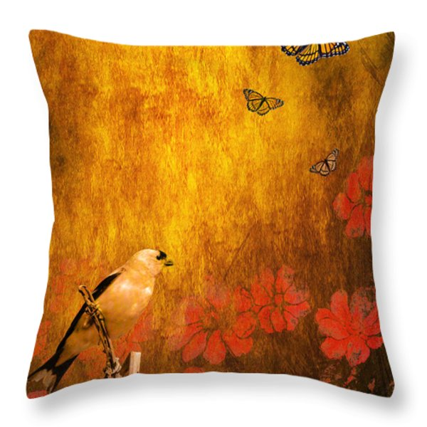 Golden Throw Pillow by Wingsdomain Art and Photography