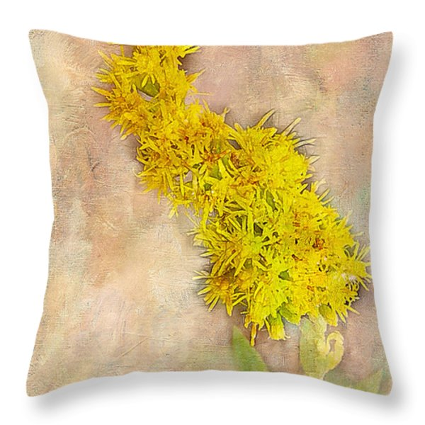 Goldenrod Throw Pillow by Judi Bagwell