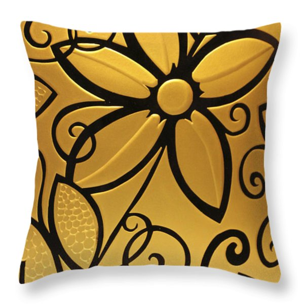Goldenrod Throw Pillow by Shelley Neff