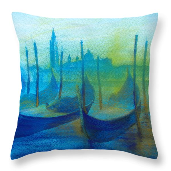 gondolas Throw Pillow by Khromykh Natalia