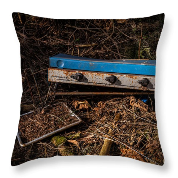 Gone Camping Throw Pillow by John Farnan