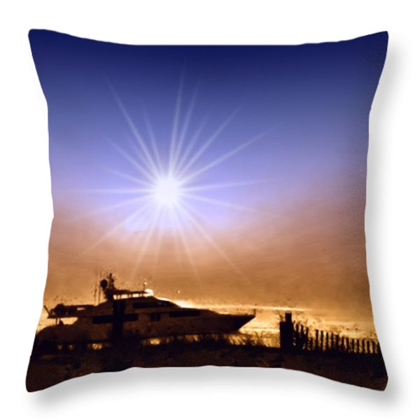 Gone Fishin Throw Pillow by Bill Cannon