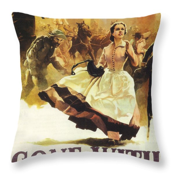 Gone With The Wind Throw Pillow by Nomad Art And  Design