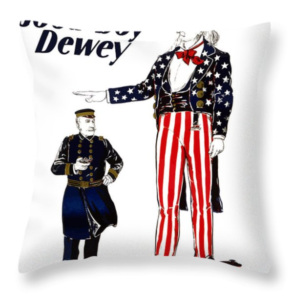 Good Boy Dewey Throw Pillow by War Is Hell Store