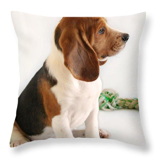 Good Ol' Snoopy Throw Pillow by Christine Till