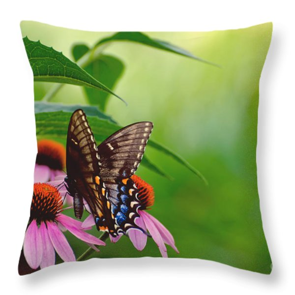 Goodbye Again Throw Pillow by Lois Bryan