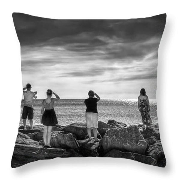 Goodbye Miss Lonely Hearts Throw Pillow by Evelina Kremsdorf