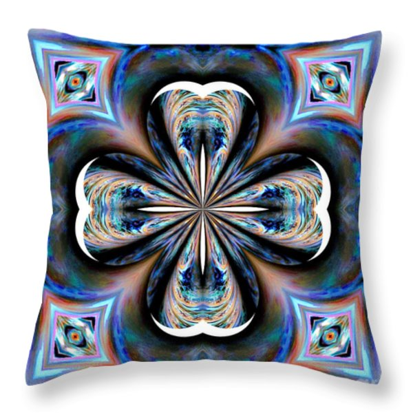 Gothic Blues Throw Pillow by Maria Urso