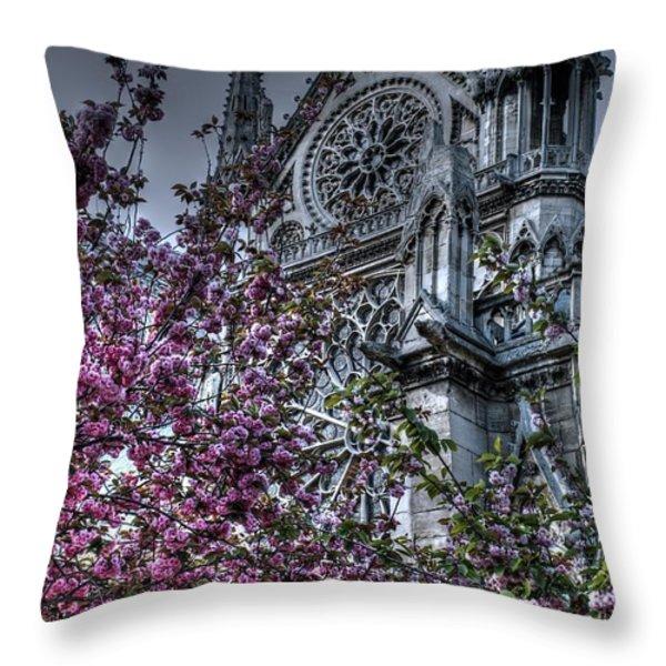 Gothic Paris Throw Pillow by Jennifer Ancker
