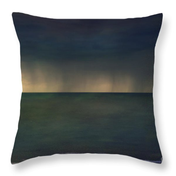Gower Storm Throw Pillow by Sue Fulton