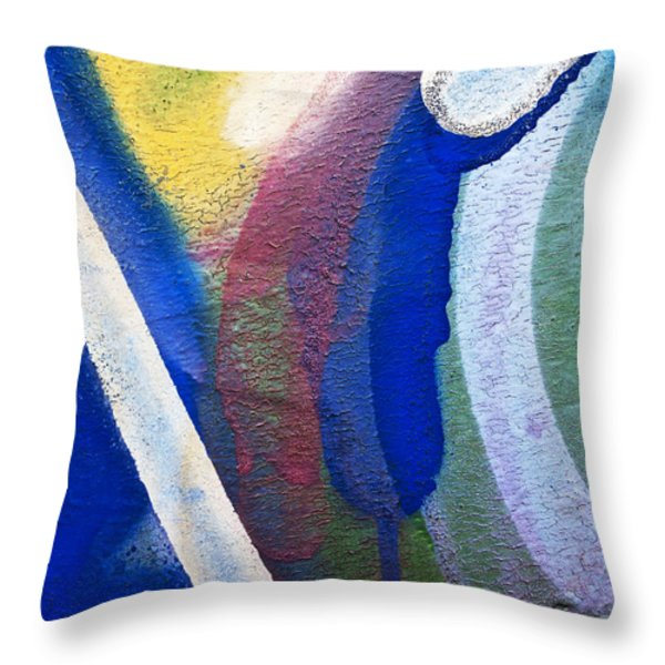 Graffiti Texture V Throw Pillow by Ray Laskowitz - Printscapes