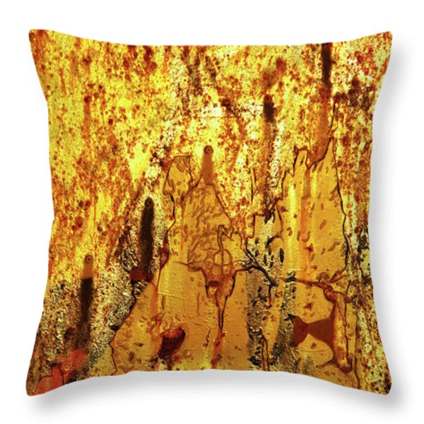 Grafitti Detail Throw Pillow by Carlos Caetano