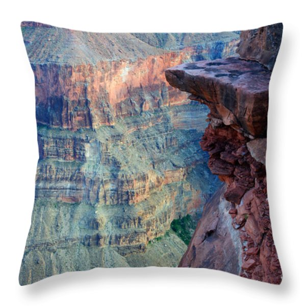 Grand Canyon A Place To Stand Throw Pillow by Bob Christopher