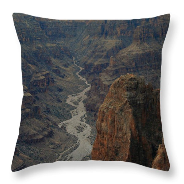 Grand Canyon-aerial Perspective Throw Pillow by Douglas Barnard