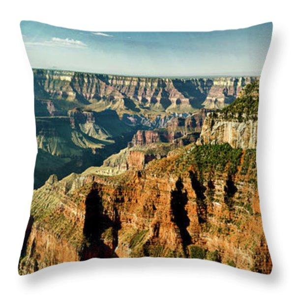 Grand Canyon Angel Panorama Throw Pillow by Bob and Nadine Johnston