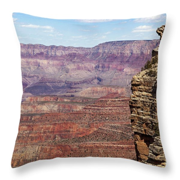Grand Canyon Throw Pillow by Jane Rix