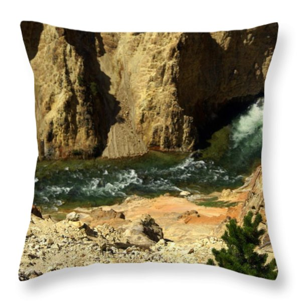 Grand Canyon Of The Yellowstone 3 Throw Pillow by Marty Koch