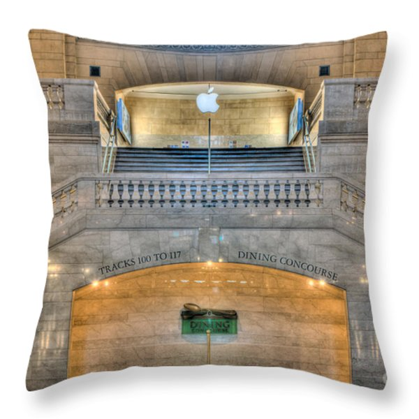 Grand Central Terminal East Balcony I Throw Pillow by Clarence Holmes