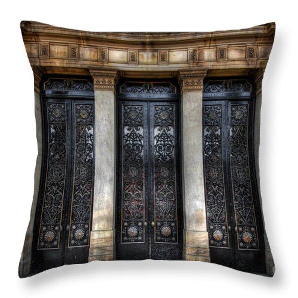 Grand Door - Leeds Town Hall Throw Pillow by Yhun Suarez