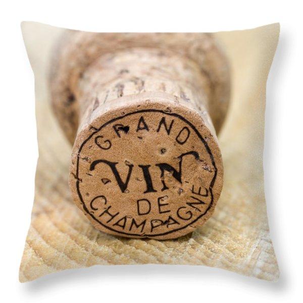 Grand vin de Champagne Throw Pillow by Frank Tschakert